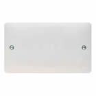 Image for Hager 2 Gang Blanking Plate White - WMP2