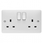 Image for Hager 2 Gang Switched Socket - WMSS82
