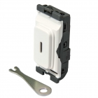 Image for Hager Double Pole Grid Key Switch - WMGKS
