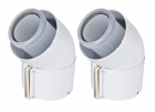 Pair of 45° Flue Elbows