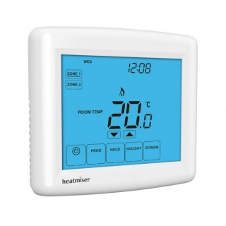 Heatmiser Touch-Duo Touchscreen Two Zone Programmable Thermostat