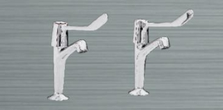 Heatrae Sadia Streamline Pack M Pillar Taps (Elbow Lever)