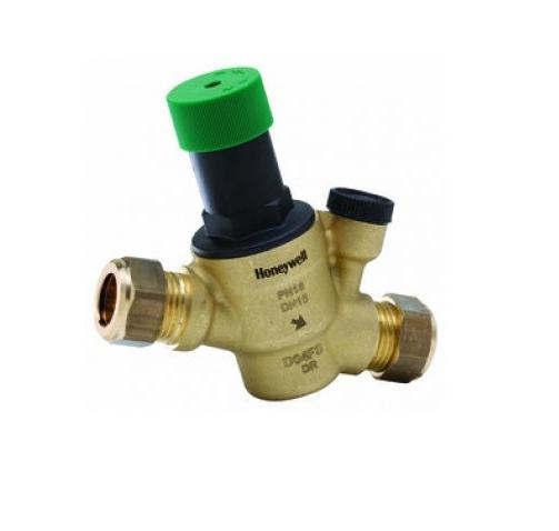 honeywell d05f pressure reducing valve d05f ec 15mm auto by pass prv valves. Black Bedroom Furniture Sets. Home Design Ideas
