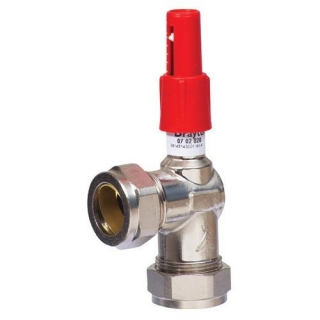Honeywell Dual Auto By-Pass Valve 22mm Angled