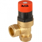 Image for Honeywell Dual Auto By-Pass Valve 22mm Angled
