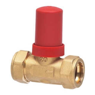Honeywell Dual Auto By-Pass Valve 22mm Straight
