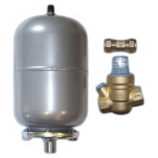 Hyco Pressure Reducing Valve, 2L Expansion Vessel And Check Valve