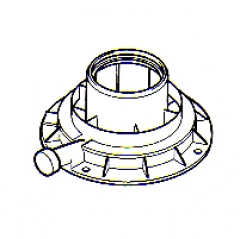 Ideal 100mm Vertical Flue Connector 201184