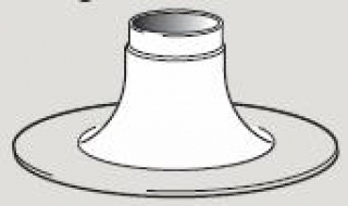 Ideal Evomax Flat Roof Flue Collar 80/125mm 152611