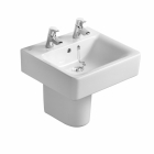 Image for Ideal Standard Concept Cube Short Projection 550mm 2 Tap Hole Basin - E788501