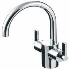 Image for Ideal Standard Silver - Basin Tap - Deck Mounted Monobloc (Dual Control) (With Pop-Up Waste) - Chrome - E0065AA