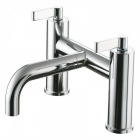Image for Ideal Standard Silver - Bath Tap - Deck Mounted Bath Filler (Dual Control) - Chrome - E0072AA