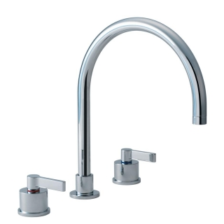 Ideal Standard Silver 3 Hole Kitchen Sink Mixer E0078AA