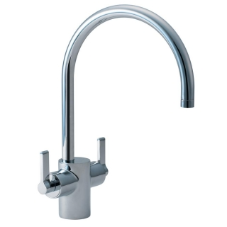 Ideal Standard Silver Dual Control Kitchen Sink Mixer E0084AA