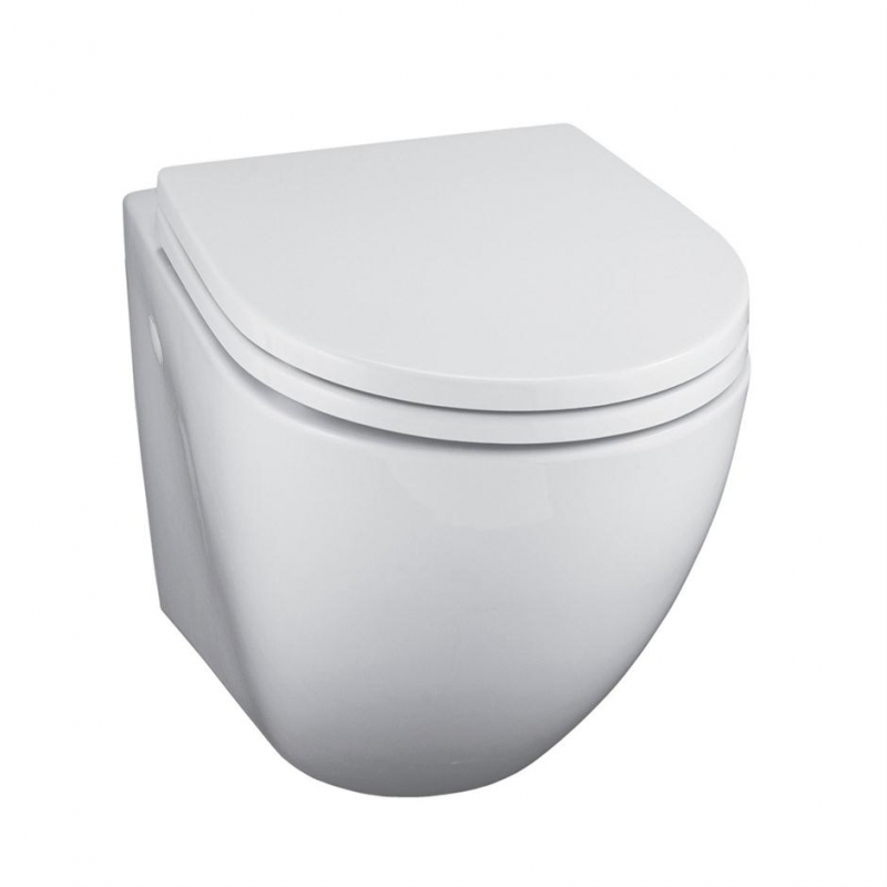 ideal standard white wall mounted toilet pan e0005. Black Bedroom Furniture Sets. Home Design Ideas