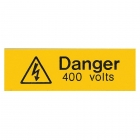 Image for Industrial Signs IS1205EN Rigid Engraved Danger 400 Volts Sign - IS1205EN
