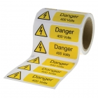 Image for Industrial Signs IS2810OR Self Adhesive Vinyl On A Roll Danger 400 Volts Sign - IS2810OR