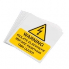 Image for Industrial Signs IS3110SA Self Adhesive Vinyl Warning Isolate Elsewhere - IS3110SA