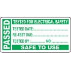 Image for Industrial Signs IS4925OR Self Adhesive Vinyl On A Roll - Pass Test Labels - Small