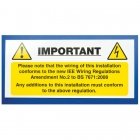 Image for Industrial Signs IS6010SA Self Adhesive Vinyl Harmonised Cable Notice - IS6010SA