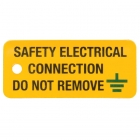 Image for Industrial Signs IS6425OR Self Adhesive Vinyl On A Roll Safety Electrical Connection - IS6425OR