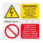Image for Industrial Signs IS7910SA Self Adhesive Vinyl Earth Provision Labels - IS7910SA