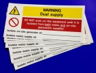 Image for Industrial Signs IS8110SA Self Adhesive Vinyl Dual Supply Notice - IS8110SA
