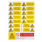 Image for Industrial Signs IS8800SA Self Adhesive Vinyl Pv Array Label Sets - IS8800SA