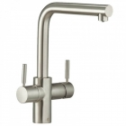 L Spout Brushed Steel