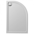 Image for Just Trays JTFusion Offset Quadrant Low Profile Shower Tray 1200mm x 800mm R/H 45mm F1280RQ100