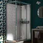 Image for Kinedo Eden Self-Contained 1200mm x 800mm Corner Pivot Shower Cubicle - CA847
