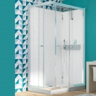 Image for Kinedo Eden Self-Contained 800mm Corner Slider Shower Cubicle - CA851
