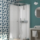 Image for Kinedo Eden 800mm x 800mm Quadrant Slider Shower Cubicle - CA853