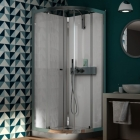 Image for Kinedo Eden Self-Contained 900mm x 900mm Quadrant Pivot Shower Cubicle - CA844