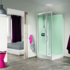 Image for Kinedo Kineprime Glass Self-Contained 700mm x 700mm Corner Pivot Shower Cubicle - CA720TTN