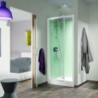Image for Kinedo Kineprime Glass Self-Contained 700mm x 700mm Recessed Pivot Shower Cubicle - CA740TTN