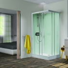 Image for Kinedo Kineprime Glass 800mm x 800mm Corner Slider Shower Cubicle - CA701TTN
