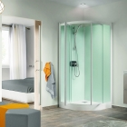 Image for Kinedo Kineprime Glass Self-Contained 900mm x 900mm Quadrant Pivot Shower Cubicle - CA782TTN