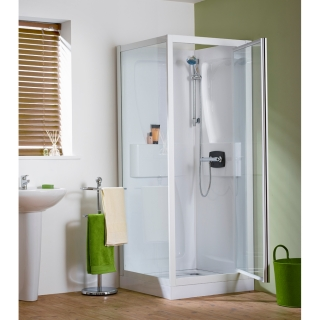 Kinedo Kineprime Self-Contained Corner Pivot Shower Enclosure