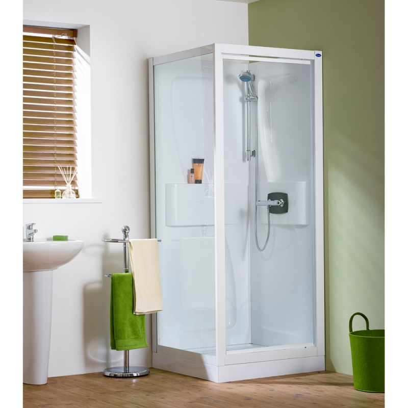 Kinedo Kineprime Self-Contained Corner Pivot Shower Cubicle | All ...