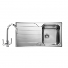 Image for Leisure Albion 950x508 1.0B Satin Stainless Steel Kitchen Sink Inc. Waste and FL1 Tap - AL9501/TCFL1