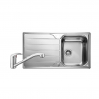 Image for Leisure Albion 950x508 1.0B Satin Stainless Steel Kitchen Sink Inc. Waste and MO35 Tap - AL9501/TMO35
