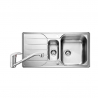 Image for Leisure Albion 950x508 1.5B Satin Stainless Steel Kitchen Sink Inc. Waste and MO35 Tap - AL9502/TMO35