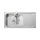 Image for Leisure Aqualine AQ9851 1.0 Bowl 1TH Stainless Steel Inset Kitchen Sink - Reversible Drainer