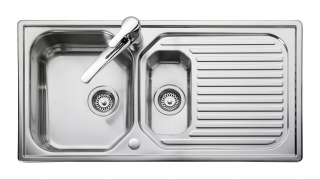 Leisure Aqualine AQ9852 1.5 Bowl 1TH Stainless Steel Inset Kitchen Sink