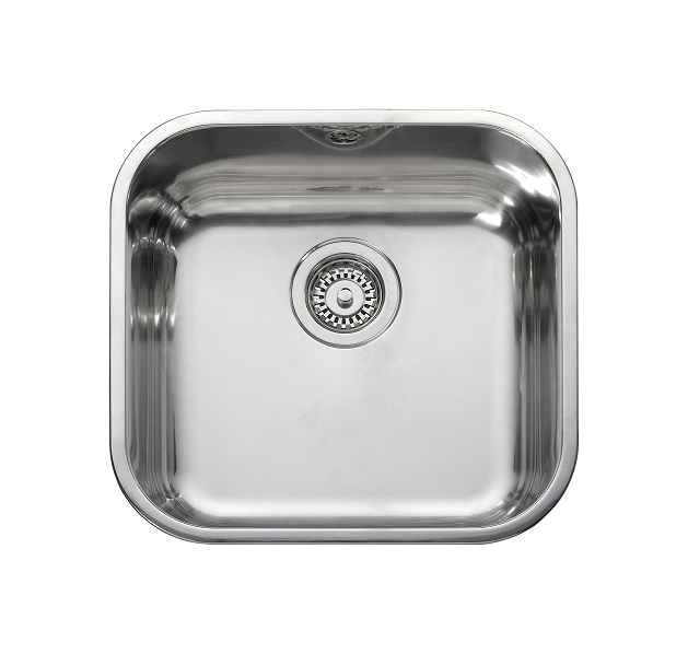 Leisure BSS40 1.0 Bowl Square Inset Stainless Steel Kitchen Sink ...