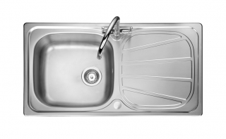 Leisure Contour CN950 1.0 Bowl 1TH Stainless Steel Kitchen Sink - Reversible