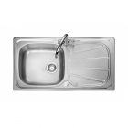 Image for Leisure Contour CN950 1.0 Bowl 1TH Stainless Steel Kitchen Sink - Reversible