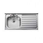 Image for Leisure Contract LC105R 1.0 Bowl 2TH Stainless Steel Kitchen Sink -Right Hand Drainer SQ Front