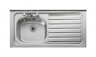 Leisure Contract LC42L 1.0 Bowl 2TH Stainless Steel Kitchen Sink - Left Hand Drainer